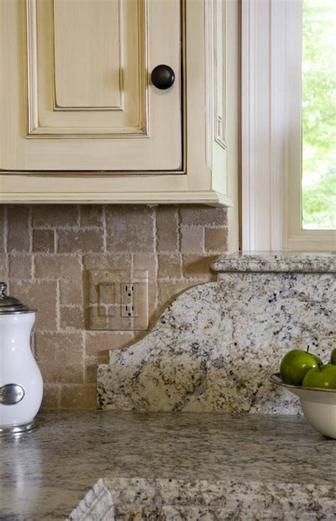 granite backsplash curved detail and windowsill