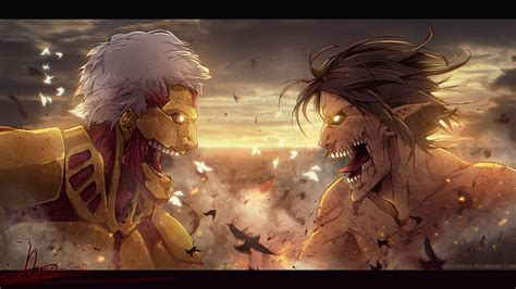 attack  titan anime hd wallpaper anime wallpaper