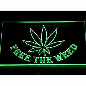 ADV PRO e006 g Marijuana Hemp Leaf High Life NR Neon Light
