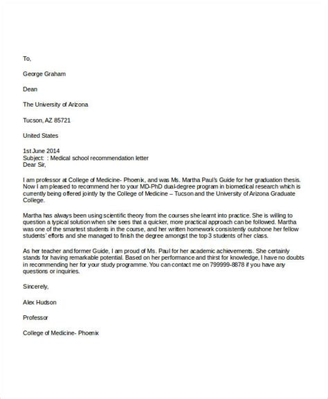 examples  recommendation letter