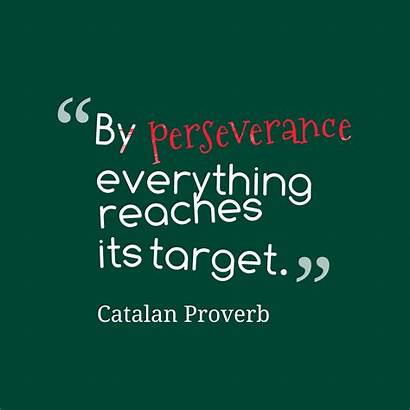 Perseverance Quotes Target Proverb Catalan Persistence Strength