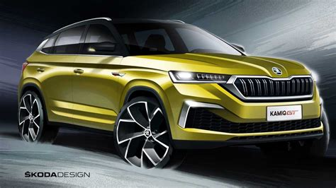 skoda kamiq gt shows   escaping  coupe suv