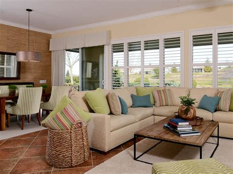 White Transitional Living Room With Sectional Sofa   HGTV