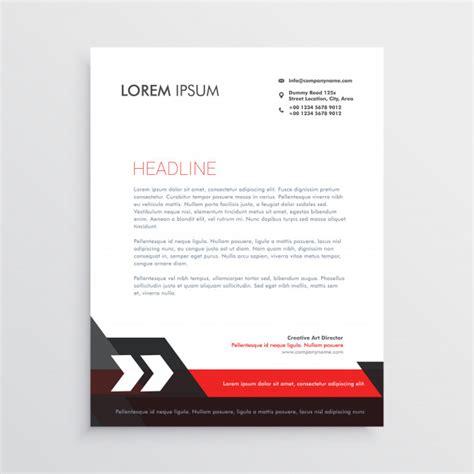 red black letterhead template design vector