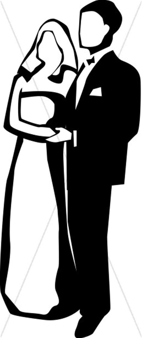 Black and White Couple | Christian Wedding Clipart