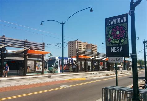 mesa az downtown mesa sees light from rail rail life