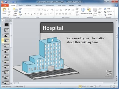 interactive powerpoint templates interactive cityscape powerpoint template