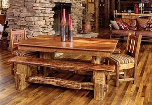 rocky mountain barn wood dining table rustic furniture With barn wood dining room sets