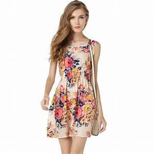 robe d ete fleurie femme courte pas cher rose achat With robe d été pas cher