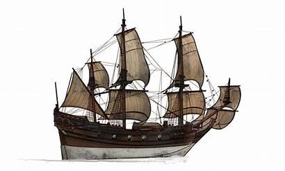 Ship Transparent War Clipart Clip Broken Caravel