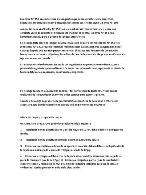 La Norma API 653 | Soldadura | Diseño