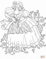 Coloring Dancing Woman Italian Pages Supercoloring Adult Printable Drawing Categories Colouring Crafts Puzzle Super sketch template