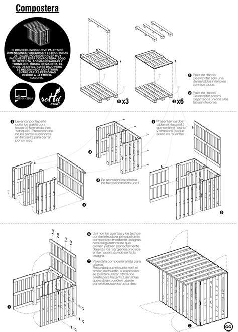 plan chaise de jardin en palette plans pour faire une table de pique nique et un composteur