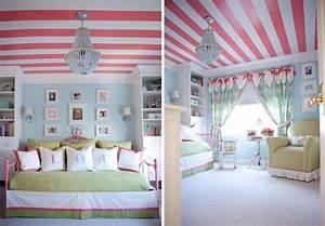 Jugendzimmer Mädchen Ideen : rosa streifen an der decke m dchen jugendzimmer emma pinterest dekoration ~ Indierocktalk.com Haus und Dekorationen