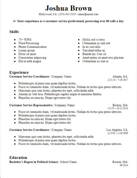 Exles Of A Professional Summary by Free Professional Summary Resume Templates For