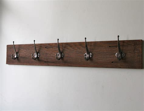 Unique Ikea Coat Hook With Walnut Reclaimed Board Material