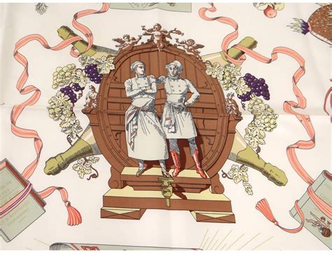 carre cuisine foulard carré soie hermès gloire cuisine française