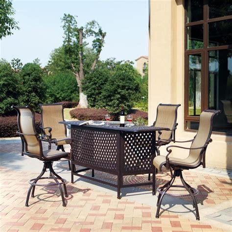 outdoor patio bar sets shop darlee monterey bay 5 antique bronze aluminum