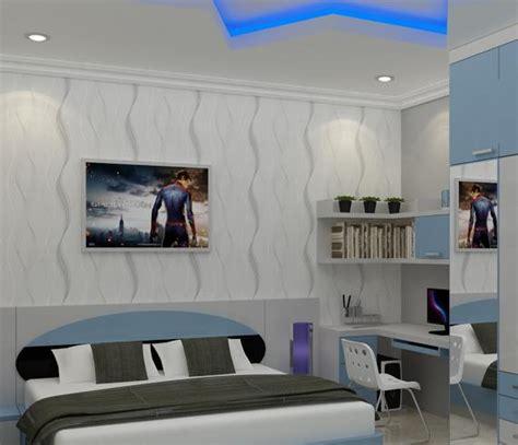 jasa desain kamar tidur warna biru jasa desain apartemen