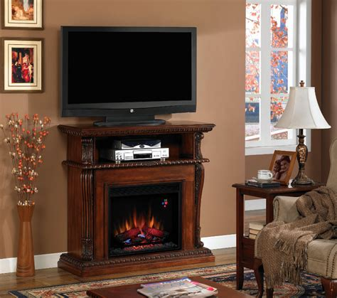 Infrared Fireplace Entertainment Center by 42 Corinth Vintage Cherry Entertainment Center Wall And