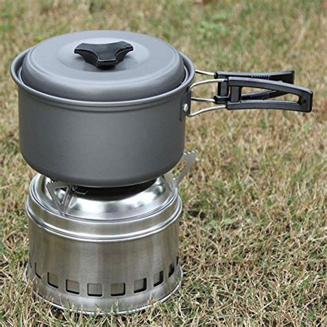 camping cookware pot lightweight backpacking cooking outdoor pan hiking portable non stick carry picnic 8pcs accmor bowl premium bag kit