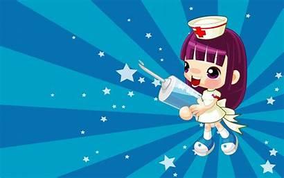 Nurse Wallpapers Cartoon Backgrounds Nursing Desktop Chinese