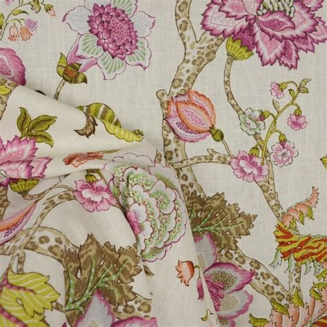jacobean floral curtain fabric malawi hibiscus jacobean floral fabric traditional