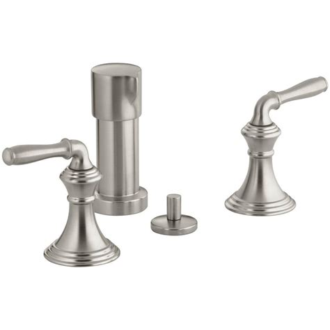 kohler devonshire faucet handle kohler devonshire 2 handle bidet faucet in vibrant brushed