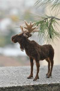 Needle Felted Animal Moose. Made to order by darialvovsky