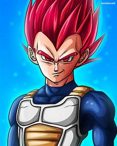 Vegeta - Super Saiyan God (Dragon Ball Super) by ...