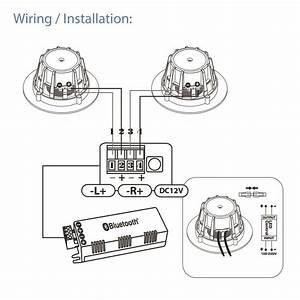 pyle pdicbtl35 35 bluetooth ceiling wall speaker With car audio amplifier 2 12quot car subwoofers sub amp amp wire kit tweeters