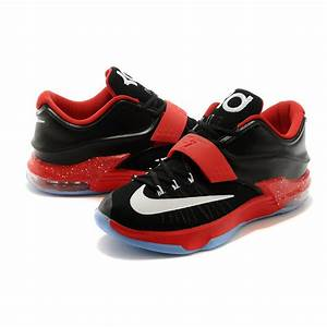 For Sale Nike KD 7 (VII) Black/Action Red-White For Cheap ...