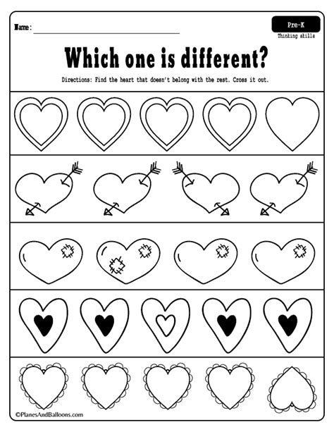 free printable s day worksheets for preschool 461 | Valentines Day preschool worksheets 01