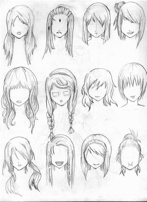 Anime Girl Hairstyles Drawings | Hairstyles Ideas
