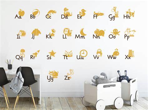Wandtattoo Alphabet Kinderzimmer by Wandtattoo Alphabet Abc Zum Lesen Lernen Wandtattoos De