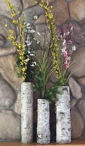 Custom, White, Birch, Floor, Vases