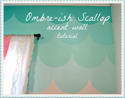 ombre scallop accent wall tutorial    wallpaper