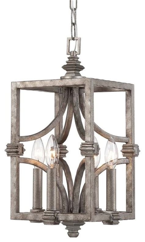 savoy house aged steel  light pendant