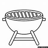 Barbecue Grill Coloring sketch template