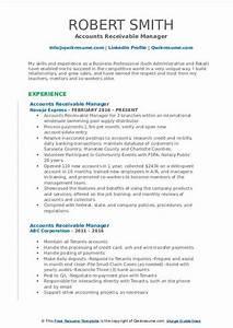 Accounts Payable Resume Accounts Receivable Manager Resume Samples Qwikresume