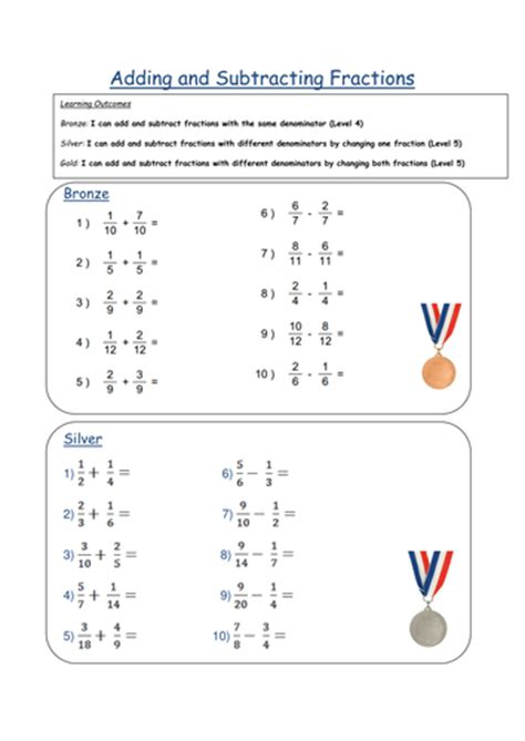 all worksheets 187 fractions worksheets ks2 year 4