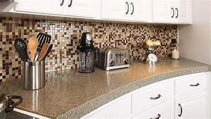 how to select the right granite countertop color for your With kitchen colors with white cabinets with large mosaic wall art