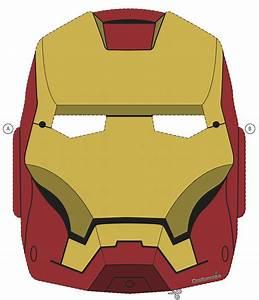 avengers mask template - printable halloween masks
