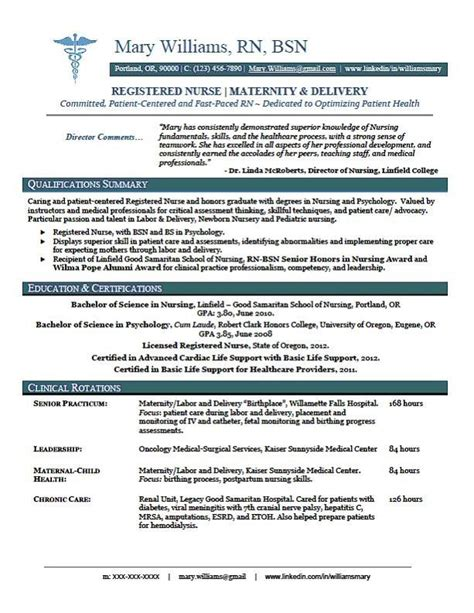 Registered Resume Template by Sle New Rn Resume Rn New Grad Nursing Resume