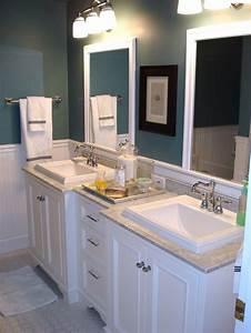 Sleek, Dual, Vanities, Highlight, Cottage, Style, Bathroom