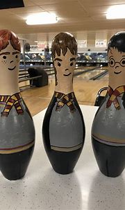 Harry Potter Trio   Harry potter cake, Bowling pins, Bowling
