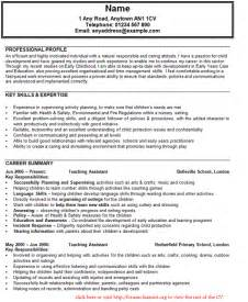 Profile Resume Exles For Teachers by Sle Curriculum Vitae For Buy A Essay For