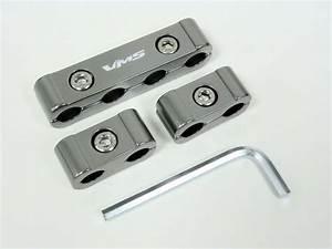 Spark Plug Wires Billet Wire Separators Dividers Kit 9mm 10mm Gunmetal