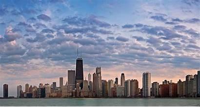 Chicago Skyline Orizzonte Horizon Mural Murals Panoramic
