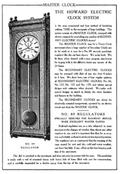 howard clock howard clock catalog
